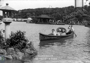 Peasholm Park, Scarborough. Boating on the Lake